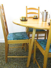 Vintage Ercol Table & Chairs, Retro Kitchen Dining drop leaf in pine Northants