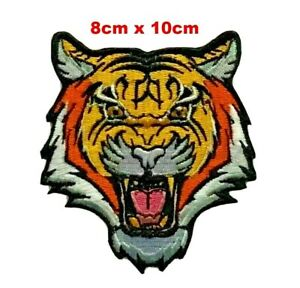 Bengal Tiger Biker Motorcycle Sew On Iron On Patch Embroidered Badge Uk New