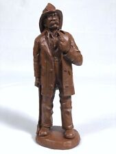 """Red Mill Fire Fighter Statue Figurine Sculpture USA Wetherbee Signed '91 11"""""""