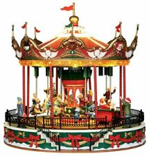 More details for lemax santa carousel large animated building, with 4.5v adaptor