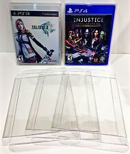 10 Box Protectors For PS3 PS4 Video Games    Custom Clear Cases Playstation 3 4