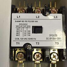 CONTACTOR  Definite Purpose 30A  3 Pole 120V AC coil FLA 40 AMP