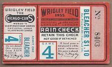1935 World Series baseball ticket Detroit Tigers Chicago Cubs Gm 4, Hartnett HR