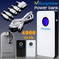 4000mAh Powerbank Externer Akku Universal Zusatzakku f. iPhone Samsung HTC Weiß