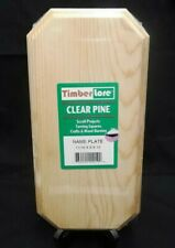 """TIMBER LORE CLEAR PINE WOOD CRAFT NAME PLATE 12"""" X 6"""" X 11/16"""" PLAQUE PROJECTS"""