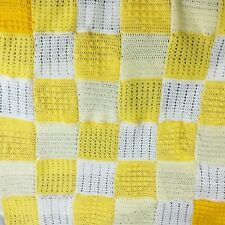 Sunshine squares Woolly baby blanket