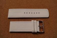 Reloj De Cuero Blanco Strp 28MM con hebilla de acero inoxidable con barras