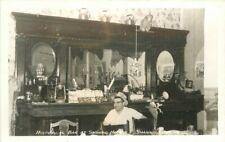 Historical Bar Shaniko Hotel Oregon Roadside 1950s RPPC Photo Postcard 20-10798