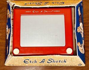 Vintage Original Etch A Sketch Toy Ohio Art #505 w/ Original box & Insert 1960's