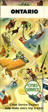 1948 Cities Service Road Map: Ontario Canda NOS