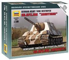 6206 SD.KFZ186 Jagdtiger Tank Destroyer - 1/100 - Zvezda-WW2