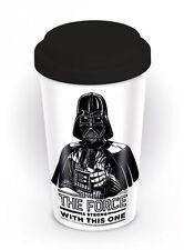 Star Wars The Force is Strong Ceramica Viaggio Tazza Con Tappo In Silicone