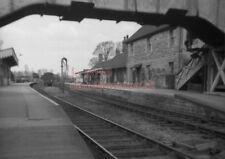PHOTO  EVERCREECH JCT RAILWAY STATION VIEW IN 1962 SOMERSET AND DORSET JOINT RAI
