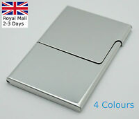 Semi-open Business Credit ID Card Holders Metal Stainless Steel Pocket Case Box
