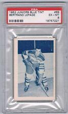 1952-53 Juniors Blue Tint Hockey Card Quebec #69 Bertrand Lepage Graded PSA 6