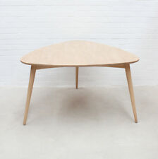 Retro Modern Design Natural Timber Wood Triangle Dining Table Kiruna Replica