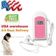 Pregnancy Baby fetus Heart Rate Monitor Fetal Doppler Recorder Sound+Gel