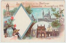 Künstlerkarte Berliner Gewerbe-Ausstellung 1896