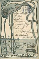 Ansichtskarte Gruß aus Orient 1901 abgest. Meersburg (Schober Karlsruhe )