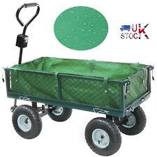 Large Heavy Duty Metal Garden Wheelbarrow Garden Cart Barrow Trolley Wheels