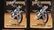 5 LOT HARLEY DAVIDSON SEALED MOTORCYCLE FACTORY SETS SERIES 2 NIB