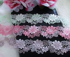 Venise flower lace trim - price by the yard /select color/