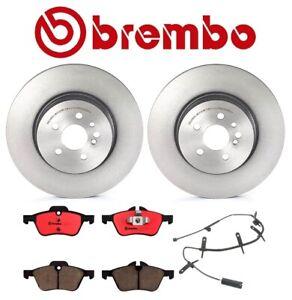 For Mini Cooper R53 R54 Brembo Front Brake Kit Disc Rotors Ceramic Pads & Sensor