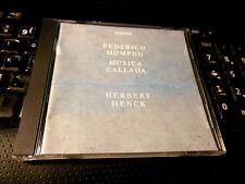 Federico Mompou: Musica Callada (CD 1995 ECM)Herbert henck