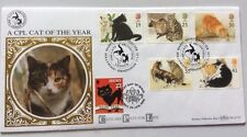 17.1.1995 Cats-Cat Protection League-Jersey Good Luck Black Cat Stamp-Benham FDC
