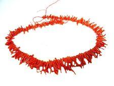 """BUTW 19"""" Genuine Mediterranean Red Coral Necklace 5924B"""