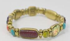 Bracelet Monet Metal Beads Enamel Stretch Brass Style
