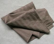 Hankie COTTON Pocket Square Handkerchief MENS Hanky MILK CHOCOLATE STRIPED