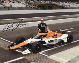 Juan Montoya autographed 2021 Indy 500 8x10 photo