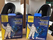 """Michelin Inner Tube Set Pair 21"""" Front 18"""" Rear Heavy Duty Motocross Enduro EVO"""