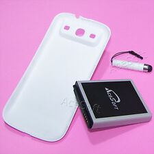 New 7570mAh Extended Battery+White Cover+Pen F Samsung Galaxy S3 III I9300 Phone