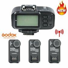3*Godox XTR-16S Wireless Flash Trigger Receiver + X1T-C Transmitter For V850