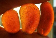 3 Large Genuine English Seaham Sea Glass Pieces