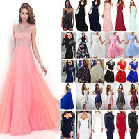 Women Formal Bridesmaid Wedding Holiday Cocktail Ball Gown Party Prom Dress
