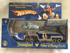 2013 DISNEY PARKS HOT WHEELS PAVEMENT POUNDER & MUSCLE BIKE - NEW - SEALED
