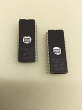 2 x M27128A2F1 IC CERAMIC DIP WINDOW EPROM DIL-28 M27128 16k x 8 NEW   £3.40ea!