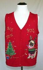 20c7708e95b Butt Ugly Christmas Sweater Mens Large Womens XL Bah Humpug Vest