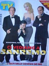 TV Sorrisi e Canzoni n°7 1997 Valeria Marini - Speciale Sanremo 1997 [D19]
