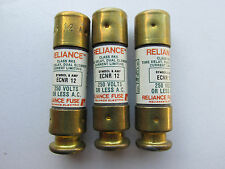 (3) Reliance ECNR12 Fuses 12A 250V Buss FRN-R-12 NEW!!! Free shipping