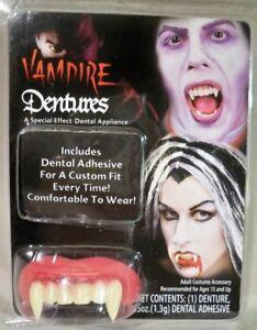 Big Bubba Vampire Teeth Halloween Costume Accessory Fake Fangs Dentures Dracula