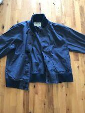 Men's Blue Orvis Jacket Size XL With Fireman Buckles