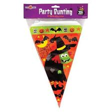 Halloween 8m Flag Banner - 20 Flags - Orange Bunnting - Plastic - Waterproof