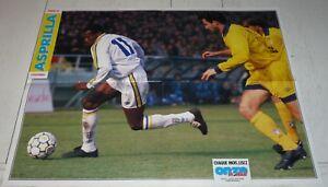POSTER FOOTBALL 1993 FAUSTINO ASPRILLA COLOMBIE COLOMBIA PARME PARMA AC CALCIO