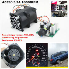 DIY Electric turbine supercharger Boost Intake Fan CAR Turbo ACE60  3.2A DC12V