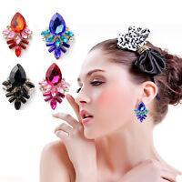 New Women Crystal Rhinestone Drop Stud Ear Dangle Charming Hook Earrings Jewelry