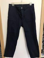 J.Crew Vintage Straight Cargo Pants Size 30P Women's Navy Blue Chino Khaki